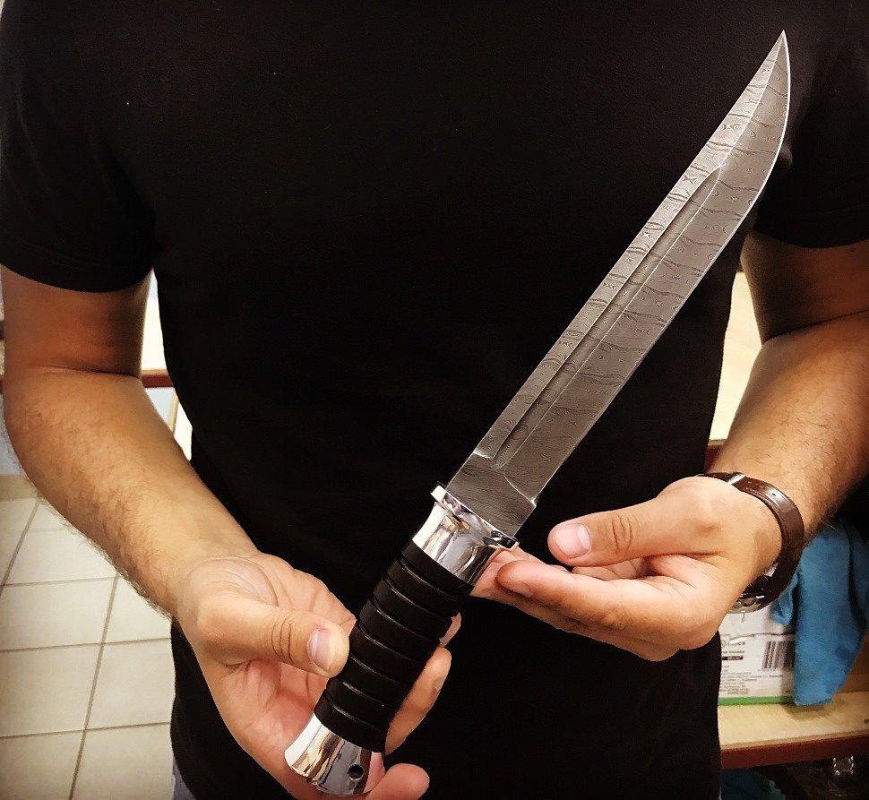 нож ручной работы Пластун