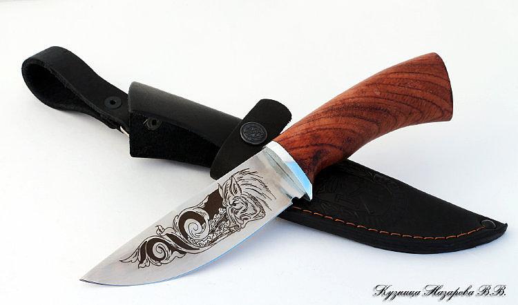Нож Гепард из стали 65х13 с гравировкой