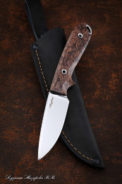 Knife No. 7 KH12MF TSM (full downhill), Karelian birch brown