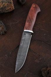 Knife Moray Damascus Bubinga