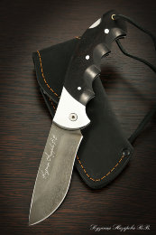 Knife folding eagle steel KH12MF lining black hornbeam